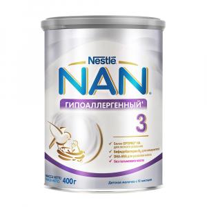 Смесь NAN 3 гипоаллергенная 400 гр