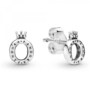 Crown O sterling silver stud earrings