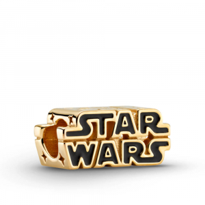 Star Wars logo Pandora Shine charm with black enamel