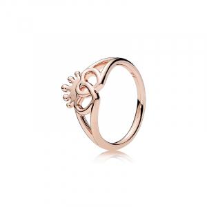 Interlocked crowned hearts PANDORA Rose ring