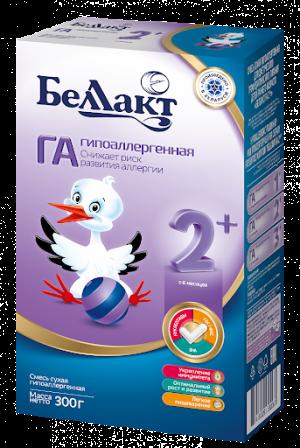 """Смесь сухая гипоаллергенная """"Беллакт ГА 2+"""" 300 гр"""