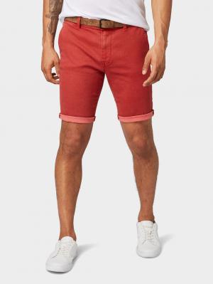 chino shorts mini, red shredder print, S
