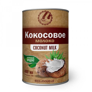 Кокосовое молоко 17% жирности 400мл Biolavka