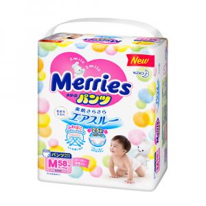Трусики-подгузники Merries размер М 6-11 кг 58 шт