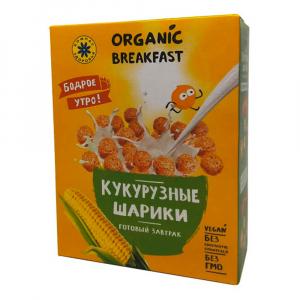 Завтраки Кукурузные шарики Компас Здоровья 100гр