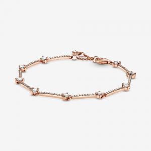 Pandora Rose bracelet with clear cubic zirconia