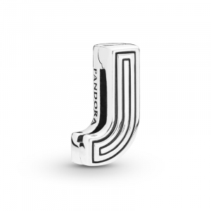 Pandora Reflexions letter J silver clip charm