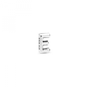Letter E silver petite element
