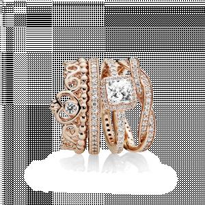 PANDORA Rose tiara ring with clear cubic zirconia
