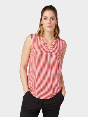 blousetop, red stripe, 36
