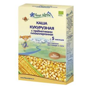 Безмолочная Каша кукурузная с пребиотиками Fleur Alpine,  гипоаллергенная, с 5 месяцев, 175 г