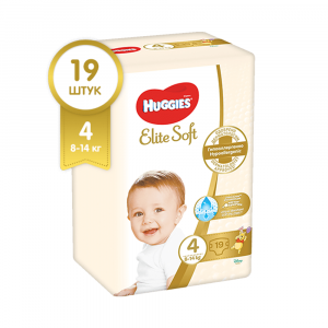 Подгузники Huggies Elite Soft 4 8-14 кг 19 шт