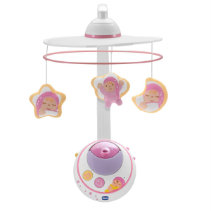 Мобиль Chicco Magic Stars Cot Mobile 2в1 розовый
