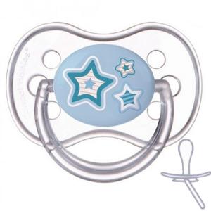 Силиконовая симметричная пустышка Canpol babies Newborn Baby 6-18 мес., синий