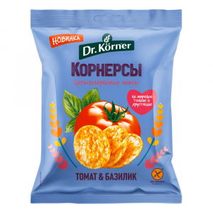 Чипсы кукурузно-рисовые с томатом и базиликом 50гр