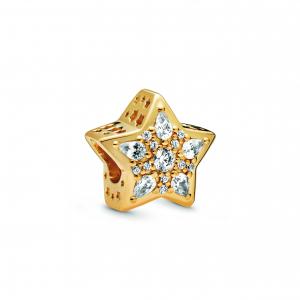Star Pandora Shine charm with clear cubic zirconia