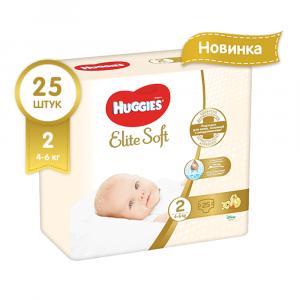 HUGGIES ELITE SOFT (2) MEGA 25 ШТ