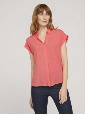 blouse shirt soli, strong peach tone, 38