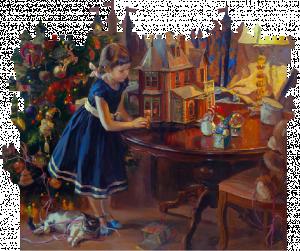 Кукольный домик  240 деталей