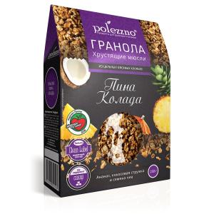 Гранола без сахара с ананасом «Пина Колада» 250 гр
