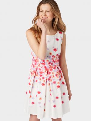 degradé flower dress, Whisper White, 36