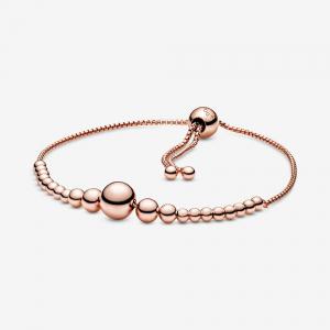 Beaded Pandora Rose slider bracelet