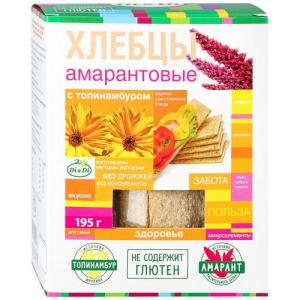 Хлебцы амарантовые Di&Di с топинамбуром 195г