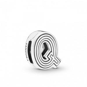 Pandora Reflexions letter Q silver clip charm