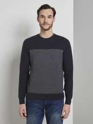 structured sweate, navy white stripe, XL