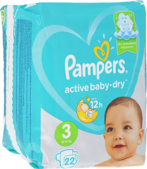 PAMPERS AVTIVE BABY-DRY #3 6-10 КГ 22 ШТ