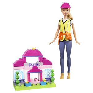 Набор Barbie Builder doll with mega bloks