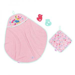 Набор игровой с куклой Baby Born Банное полотенце