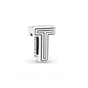 Pandora Reflexions letter T silver clip charm