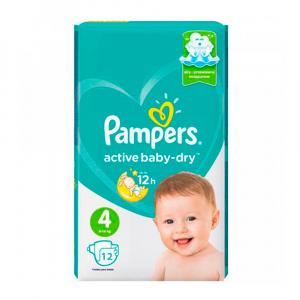 Подгузники Pampers New Baby Dry Diaper Size 4 9-14 кг