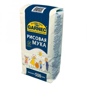 Мука рисовая БГ Garnec 500 гр. (синяя)