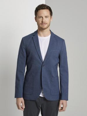 dobby blazer, blazer structure blue, 48