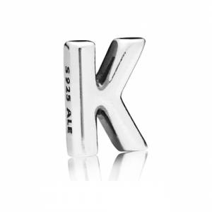 Letter K silver petite element