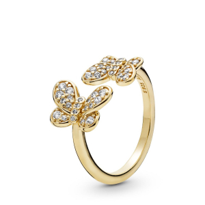 Butterfly Pandora Shine open ring with clear cubic zirconia
