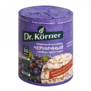 Хлебцы сладкие Korner Черничный Злаковый коктейль100гр
