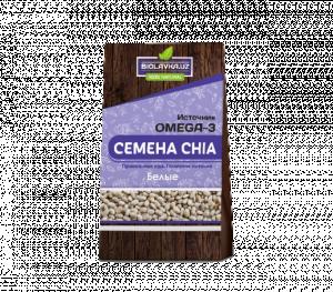 Семена ЧИА (CHIA seeds) белые  Biolavka 400 гр