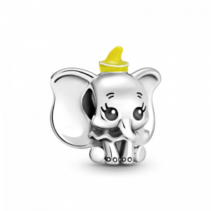 Disney Dumbo sterling silver charm with black and yellow enamel