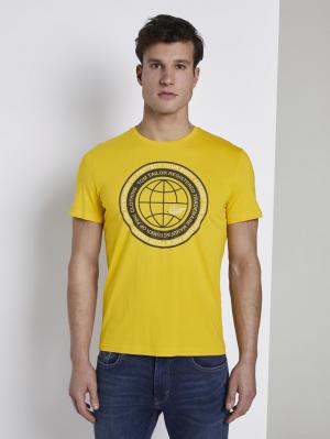 t-shirt with prin, Californian Yellow, S