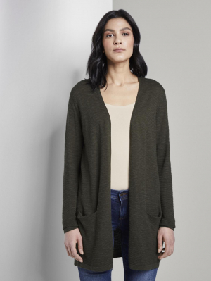 cardigan long slub yarn, cream toffee, L