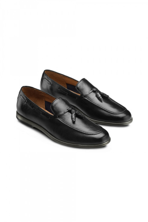 BATA - MEN LEATHER LOAFER -BLACK COLOUR