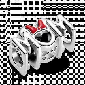 Disney Minnie Mum sterling silver charm with red enamel