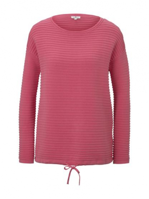 sweater cotton with st, charming pink, L