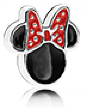Disney Minnie silhouette silver petite element with red and black enamel