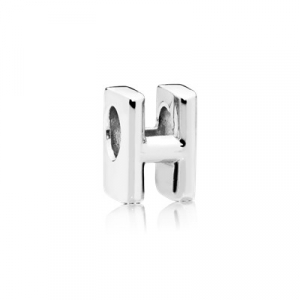 Letter H silver charm