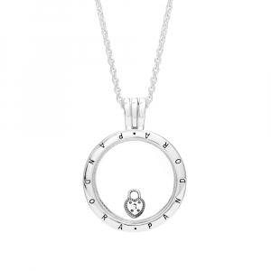 Heart padlock silver petite element
