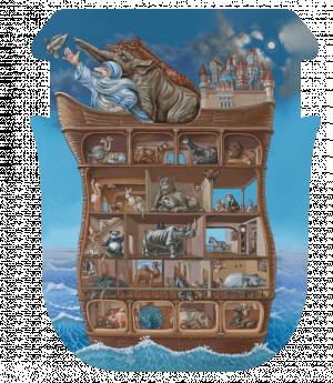 Ноев ковчег 210 деталей